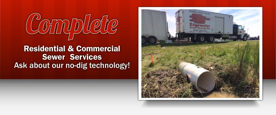 Complete Residential & Commercial Sewer Services for Southern Ontario | Truck